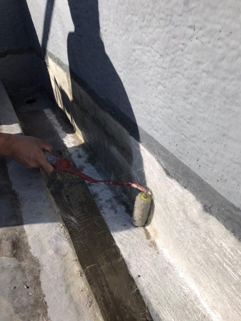 FRP防水 ベランダ 工程